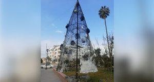 En pleno 24 de diciembre, queman árbol navideño en Hidalgo