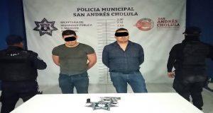 Policía de San Andrés Cholula frustra robo sobre Vía Atlixcáyotl