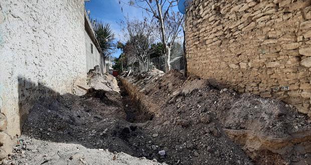 Amplían red de drenaje en Ahuatempan