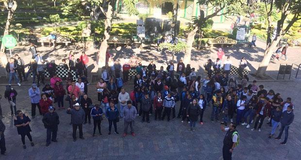 Antorchistas protestan en Atlixco por falta de atención a demandas