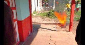 En Chiapas, pobladores queman a presunto asesino de niña de 6 años