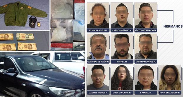 FGE de Puebla catea cuatro inmuebles y detiene a 10 personas