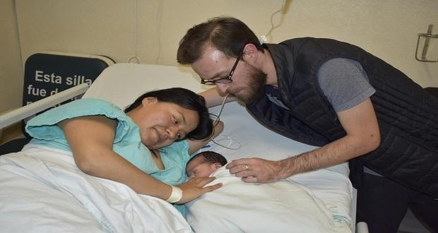 Nace en el IMSS de la Margarita el primer bebé poblano del 2020