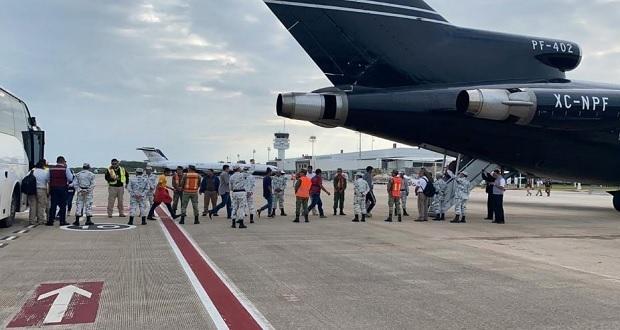 Gobierno federal ayuda a 110 migrantes a retornar a Honduras