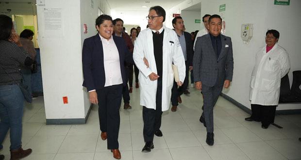 Karina Pérez da inmobiliario para Hospital General de Cholula