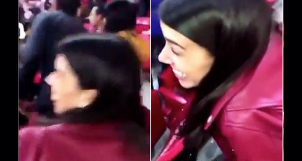 #LadyCerveza: Lanza cerveza a aficionados y es vetada por Chivas