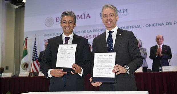 México y EU firman acuerdo para acelerar gestión de patentes