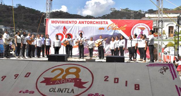 Cumplirá 29 años el Movimiento Antorchista en Olintla