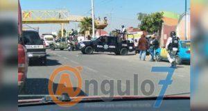 Operativo en central de abasto de Huixcolotla, por reportes de robos