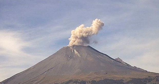 Actividad del Popocatépetl generaría caída de ceniza en 6 municipios