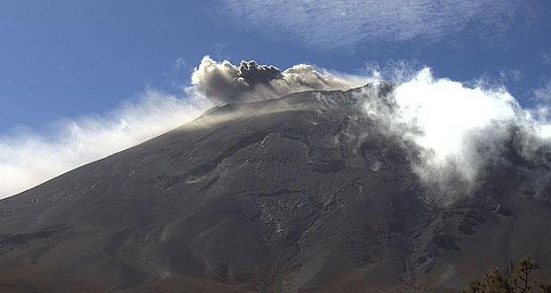 Con 73 exhalaciones, Popocatépetl mantiene baja actividad