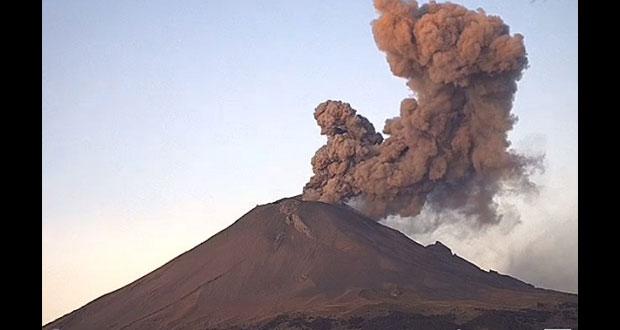 Popo registra explosión durante la mañana; sigue en Amarrillo Fase 2