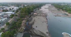Ríos Suchiate en frontera con Guatemala