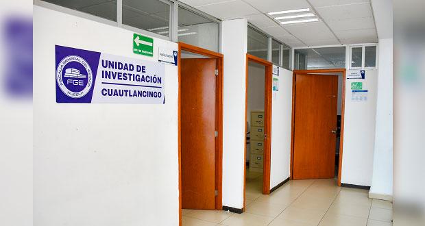 Ponen en marcha agencia del Ministerio Público en Cuautlancingo