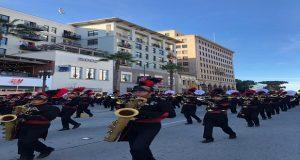 """Por tercera vez, """"Aguiluchos"""" participan en el Desfile de las Rosas"""