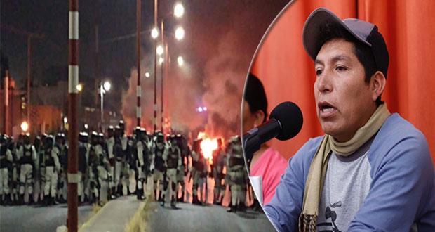 ONGs exigen liberar al activista Miguel López; bloqueo carretero se mantiene