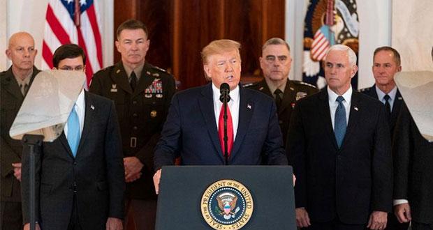 Trump busca nuevo acuerdo nuclear; irán advierte su venganza inicia
