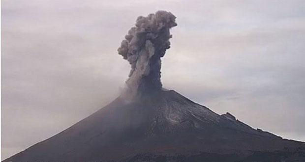 Este viernes, el día más activo de la semana del Popocatépetl