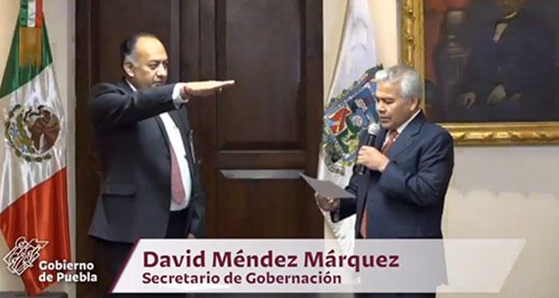 Tras renuncia de Manzanilla, David Méndez asume titularidad de Segob