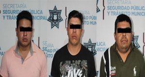 En mercado Morelos, SSC detiene a tres posibles extorsionadores