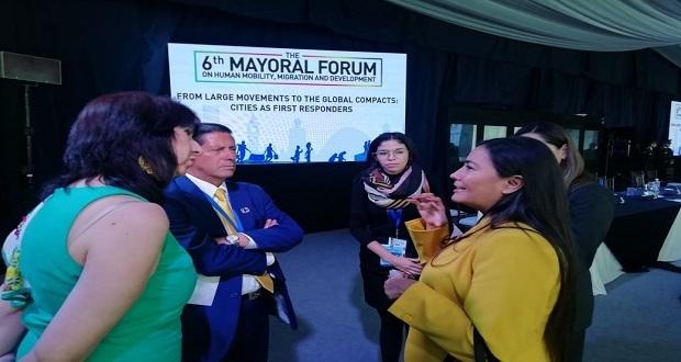 Comparten estrategias de regreso de migrantes en foro de alcaldes