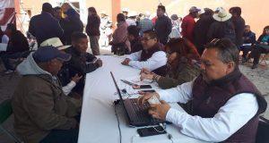 SDR atiende peticiones de productores del campo en Tepeaca