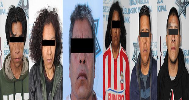 En distintas intervenciones, SSC detiene a seis por diversos robos