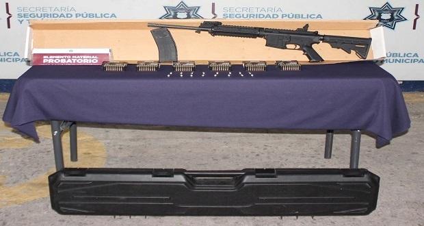 SSC asegura rifle dentro de Hummer abandonada en la CAPU