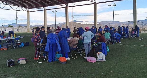 Alumnos de estomatología atienden salud bucal en colonia Ocoyucan