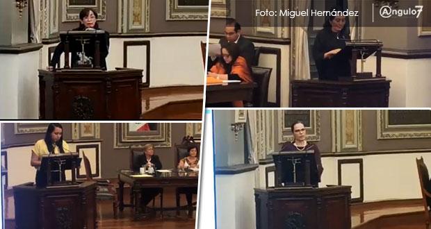 Bancadas en Congreso de Puebla se pronuncian sobre feminicidios