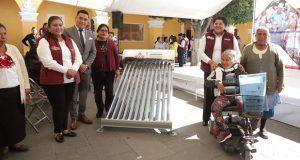 Comuna de San Andrés Cholula dará tinacos y calentadores solares