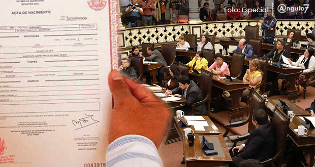 En Congreso, buscarán que Registro Civil no cobre por sus errores en actas