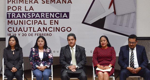 Inician en Cuautlancingo ponencias sobre transparencia