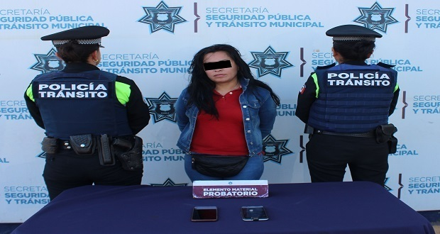 SSC detiene a mujer por robo de celulares a usuarias de la RUTA