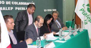 Estudiantes del Conalep podrán realizar prácticas en INE de Puebla