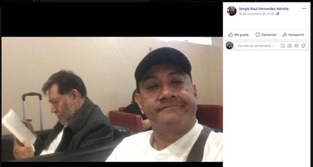 Fernández Noroña emplea a hermanos en San Lázaro y viaja con ellos por país