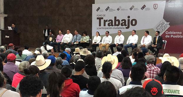 Inaugura ST foro de participación ciudadana en Izúcar