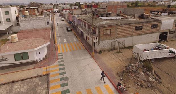 Karina Pérez inaugura rehabilitación de calle con inversión de 7 mdp