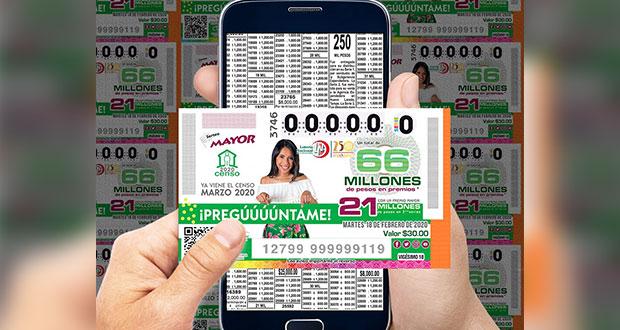 Lotería Nacional dedica su sorteo mayor al Censo 2020 del Inegi