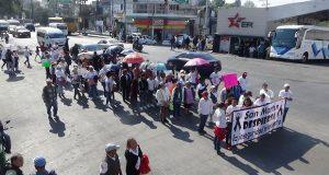 Marchan en Texmelucan por inseguridad; exigen salida de alcaldesa