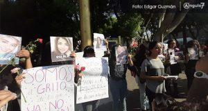 """""""No nací mujer para morir por serlo"""", claman durante manifestación en Puebla"""