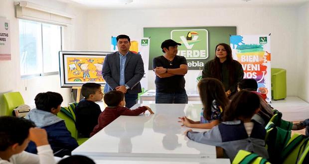 Partido Verde inaugura taller artístico para niños en Puebla