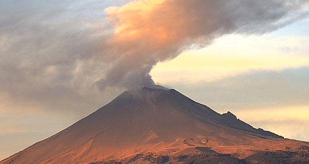 Popocatépetl continúa en Amarillo Fase Dos, informa PC