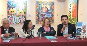 Presentan biografía del muralista Desiderio Hernández Xochitiotzin