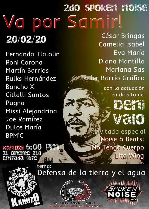 Puebla tendrá un evento cultural a favor de la tierra y de Samir
