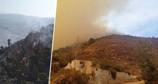 Registra Puebla 23 incendios forestales; emiten recomendaciones