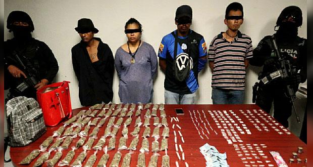 SSP detiene en La Margarita a 4 presuntos narcomenudistas