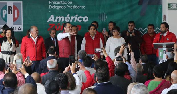Américo Zúñiga llega a la dirigencia del PRI de Puebla