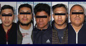 SCC detiene en Caleras a banda de 5 dedicados al robo de casas