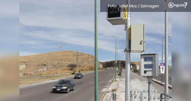 Adelantan arranque de fotomultas en Puebla; inician en marzo